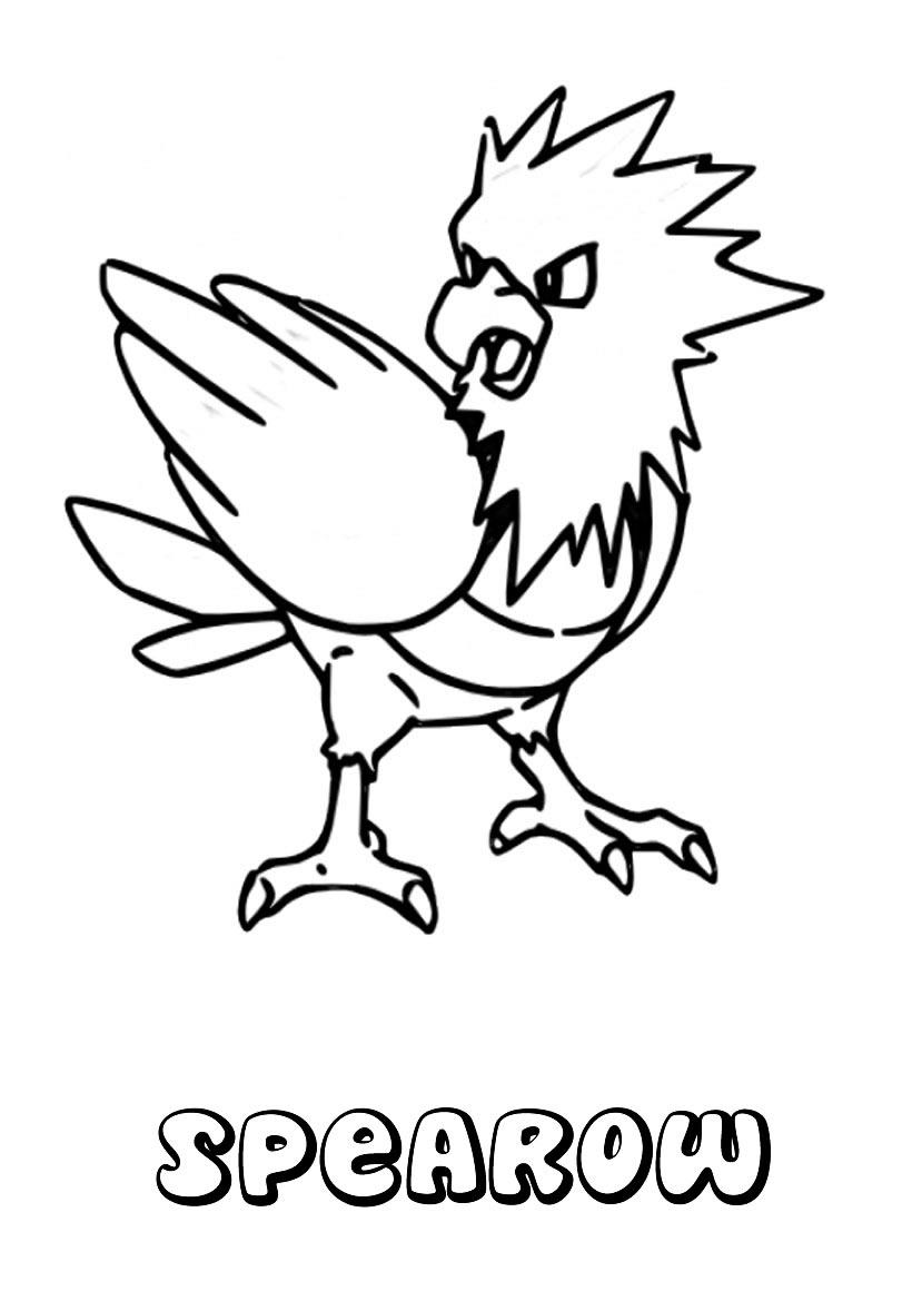 Pokemon Kleurplaten Sperow Sonhar E Brincar Spearow Pokemon