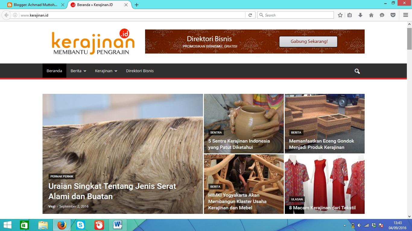 Kerajinan.id : Situs Kerajinan Indonesia - ACHMAD MUTTOHAR