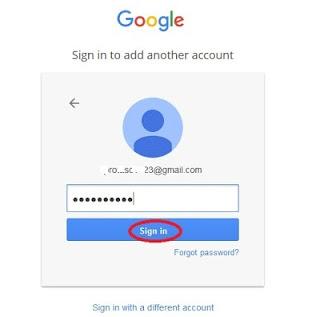 Вводим указанный при регистрации аккаунта пароль и жмем Sign in