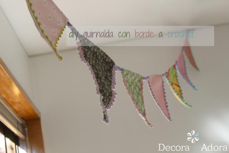 decora y adora: Diy guirnalda con borde a crochet