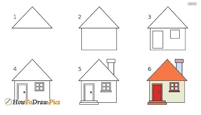رسم منزل ريفي