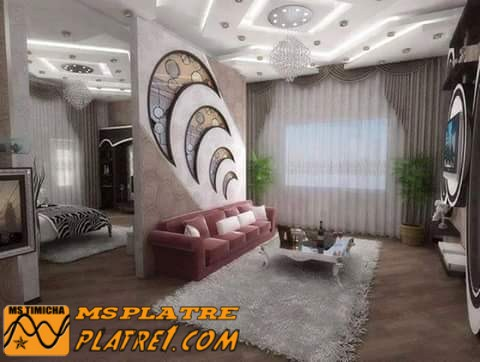 Decoration platre for Decoration salon placoplatre