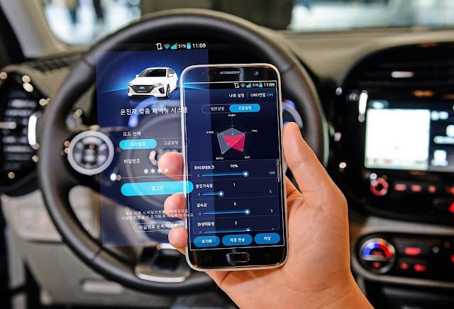 Hyundai mostra app de gereciamento de carros elétricos