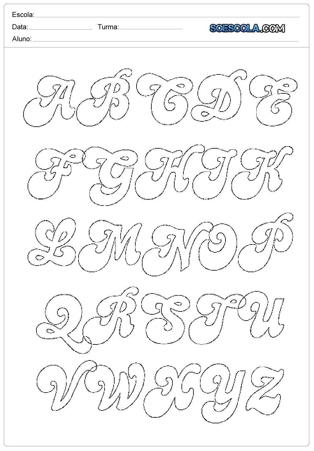 Moldes De Letras Em Eva Para Imprimir So Escola