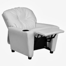 White Vinyl Kids Recliner by Flash Furniture