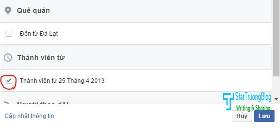 Cách bật hiển thị ngày tham gia Facebook cho tài khoản cá nhân