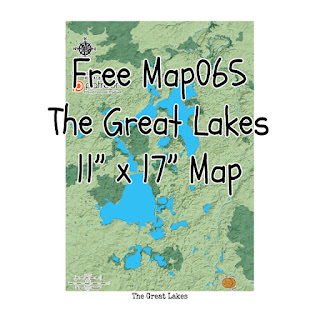 Free Map065: The Great Lakes