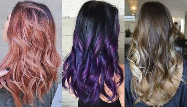 Haarfarben Trends Herbst Modische Haarfarbe Der Frisuren Stil Haar