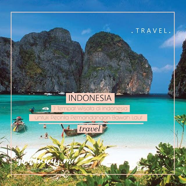 7 Tempat Wisata di Indonesia untuk Pecinta Pemandangan Bawah Laut