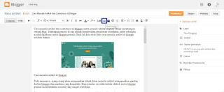 Cara Menulis Artikel dan Contohnya di Blogger