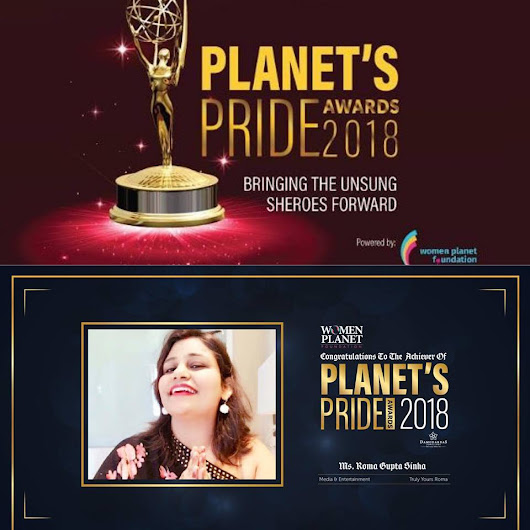 Humbled and Overwhelmed to be felicitated with the Planet's Pride Award by Women Planet Foundation!