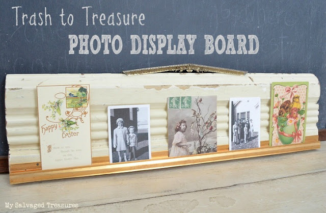 Trash to Treasure Photo Display