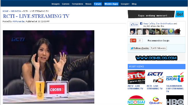 Rcti Streaming: RCTI TV Online Live Streaming HD