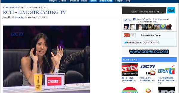 RCTI TV Online Live Streaming HD