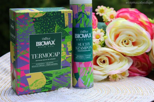 Nowości Biovax, które warto poznać : Turban do włosów Biovax Hair Spa TermoCap oraz Suchy szampon Biovax Botanic