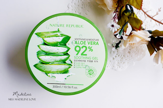 [REVIEW] NATURE REPUBLIC ALOE VERA 92% SOOTHING GEL, gel lô hội, gel lo hoi, gel nha dam, nature republic, aloe vera