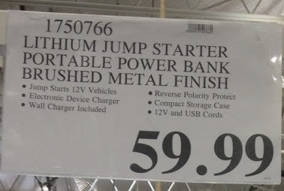 Deal for the Winplus Car Jump Start & Portable Power Bank at Costco