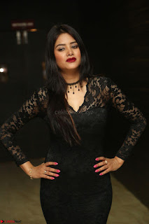 Actress Monica in spicy transparent Black Top at O Pilla Nee Valla Movie Audio Launch Feb 2017 138.JPG