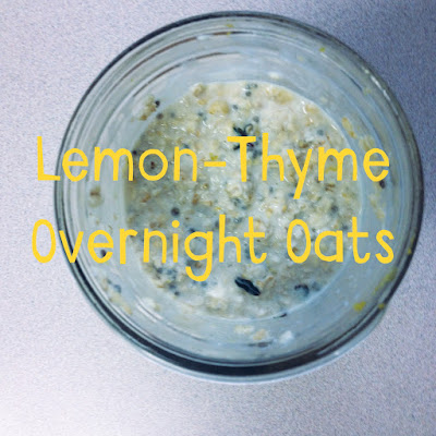Lemon, Thyme and Honey Overnight Oats