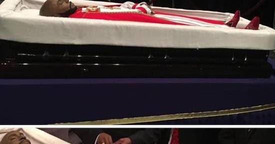 Bishop Eddie Long Burial Photos In 100 000 Coffin