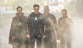 Robert Downey Jr., Mark Ruffalo, Benedict Wong, and Benedict Cumberbatch in Avengers: Infinity War, A review