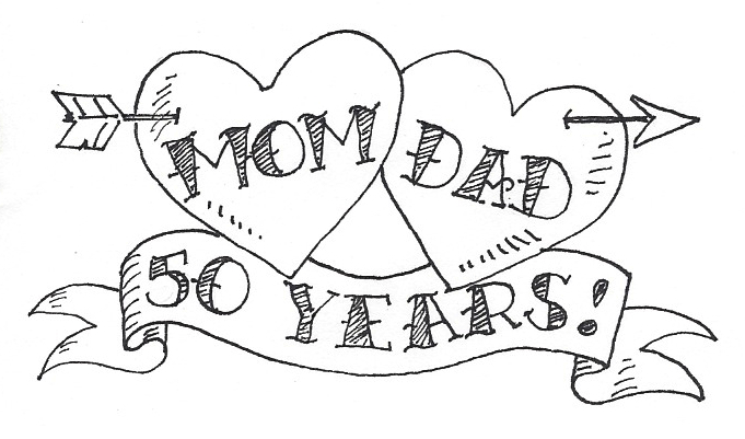 50th wedding anniversary coloring pages sketch coloring page for Wedding anniversary coloring pages