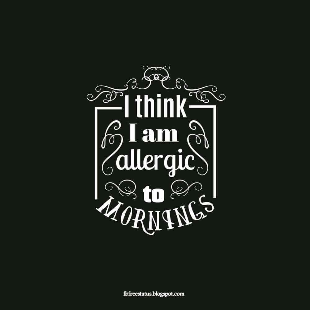 I think i'am allergic to Monday Morning.
