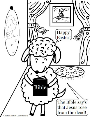 Church House Collection Blog: Easter Sheep With Bible