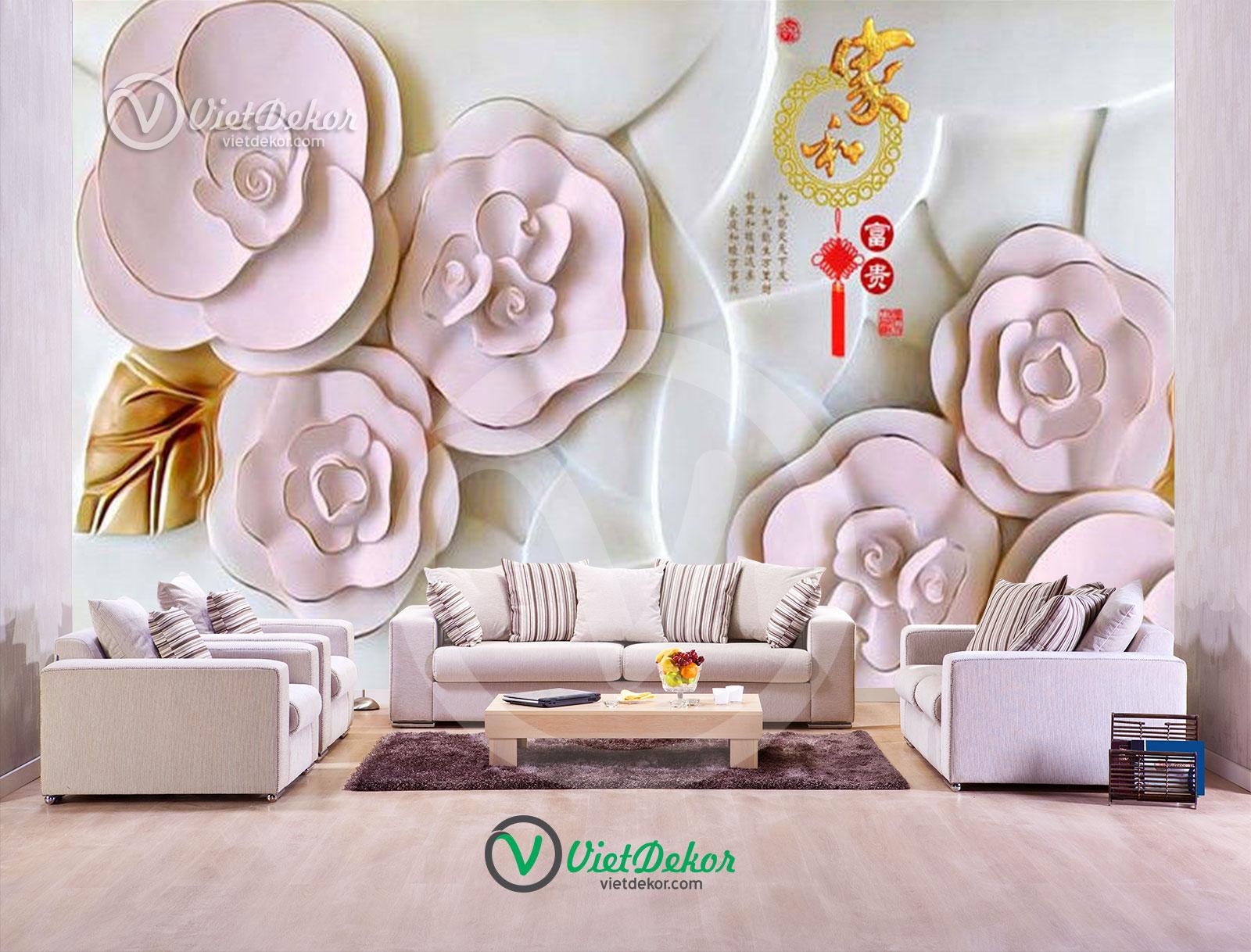 Tranh hoa 3d trang sức
