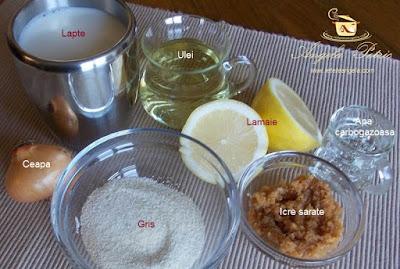 Preparare salata de icre - etapa 1