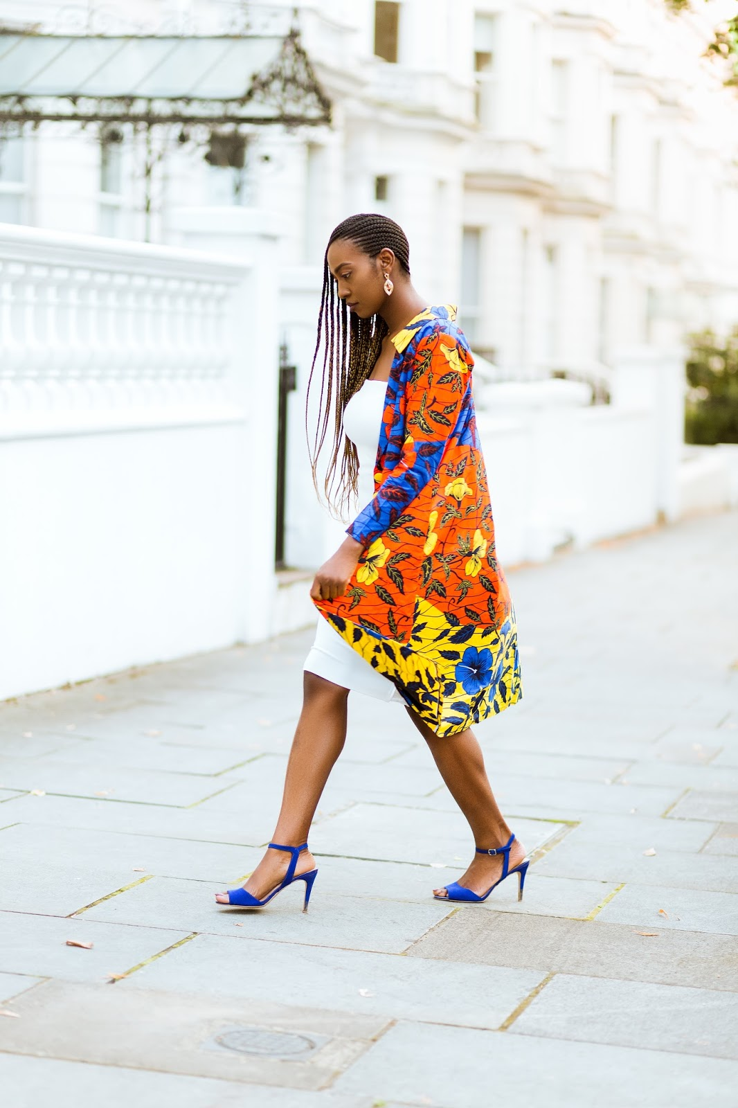 Ankara Jacket on Black Fashion Blogger