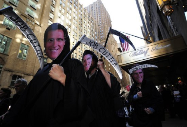 Wit's End: Occupy Wall Street Protests Romney the Zombie ...