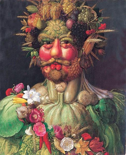 """Rodolfo II como Vertumnus - Giuseppe Arcimboldo e suas fantásticas pinturas ~ Inclui """"As Quatro Estações"""""""