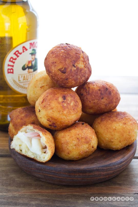 Bombas de patata y mozzarella