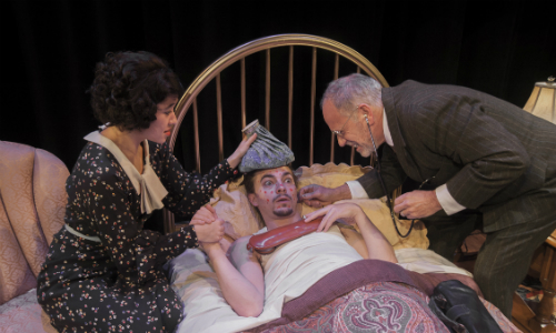 """Room Service"" playing at Taproot Theatre"