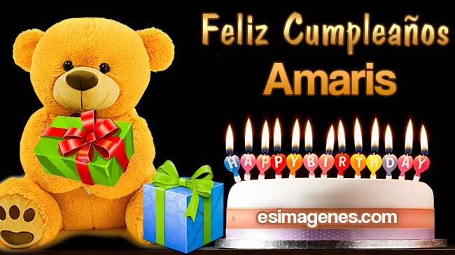 Feliz Cumpleaños Amaris