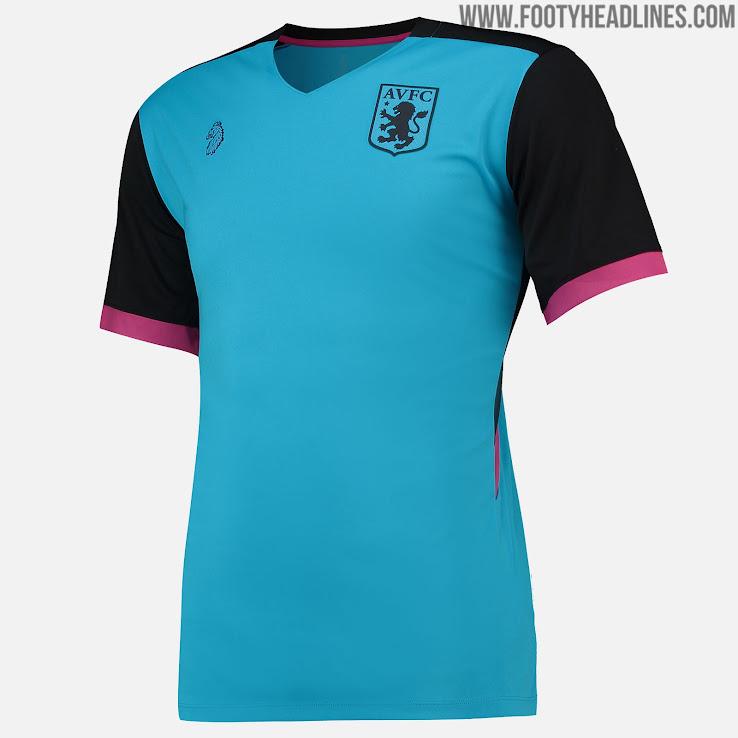 22d770f265c Modern Aston Villa 18-19 Pre-Match   Training Jerseys Released ...