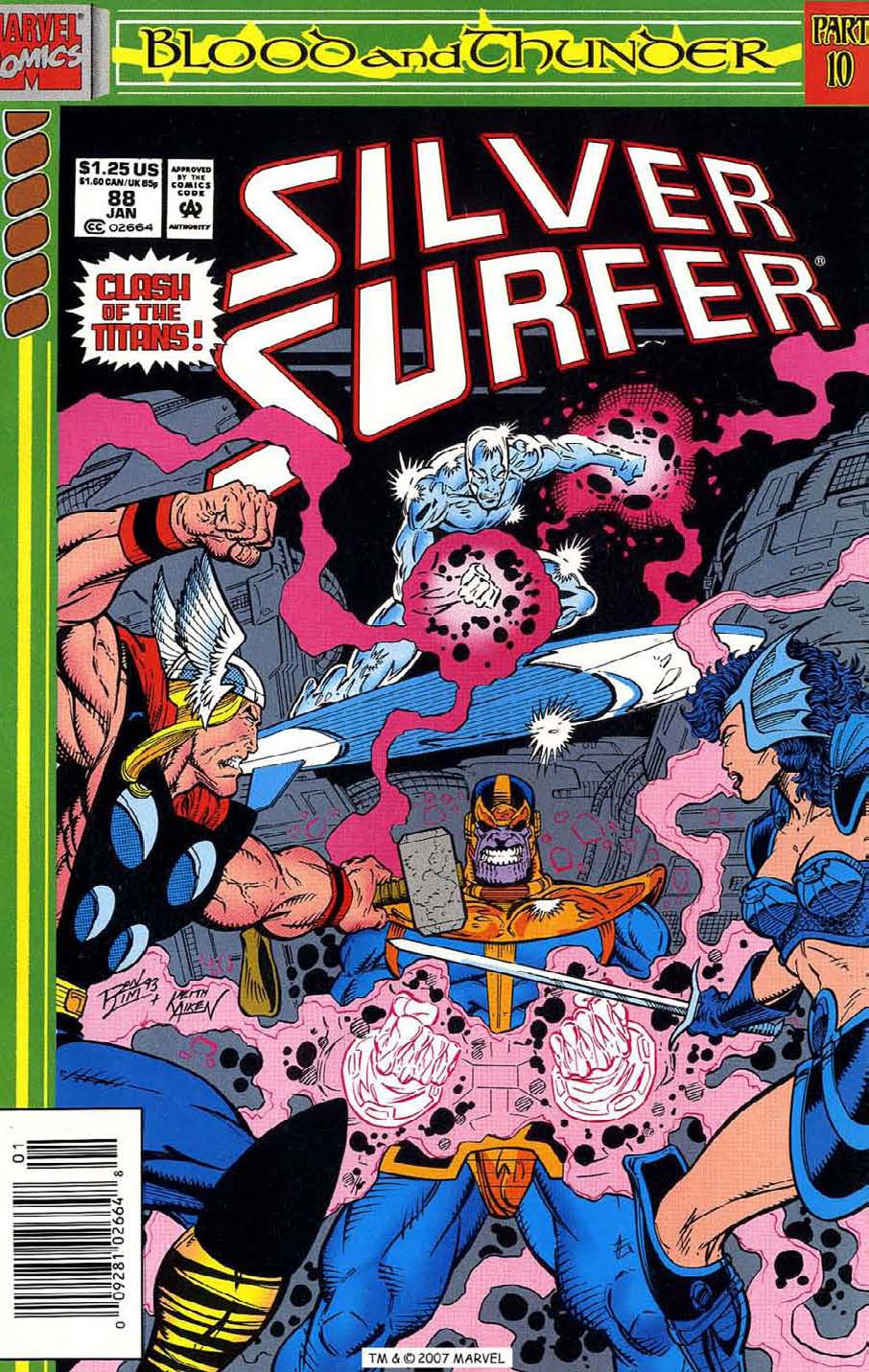 Read online Silver Surfer (1987) comic -  Issue #88 - 1