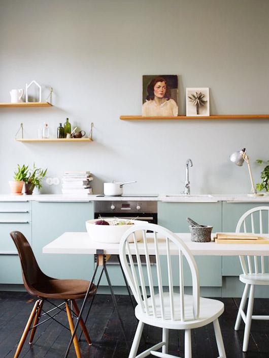 Retrato en la cocina