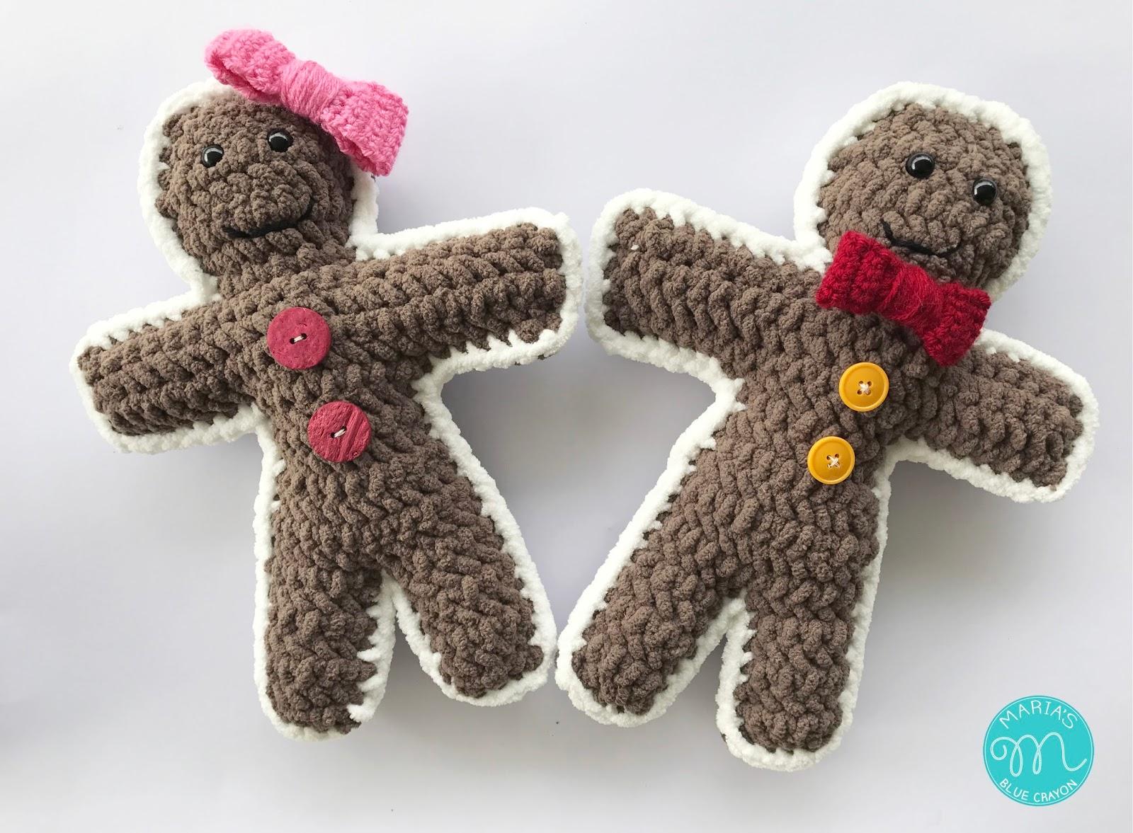 Gingerbread Boy and Girl Ragdoll Style Amigurumi Crochet Pattern ...