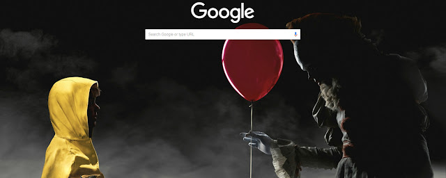 Clown Pennywise and Georgie Buy Theme FOR Chrome
