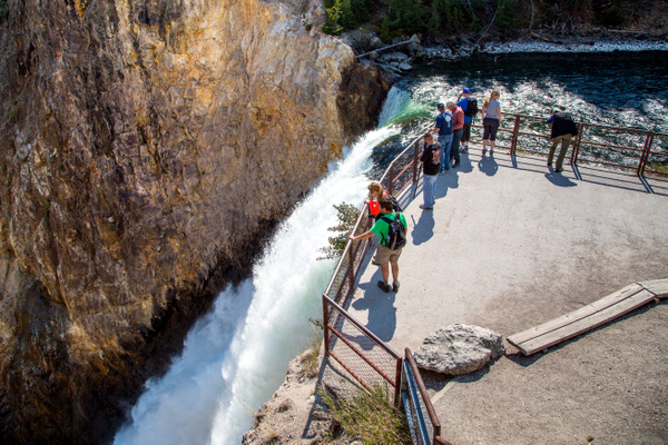Brink of Lower Falls (Yellowstone, Estados Unidos)