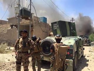 مدونة العراق : تحرير منطقة الشقق بقضاء عنه غرب الانبار ورفع العلم العراقي فوقها.