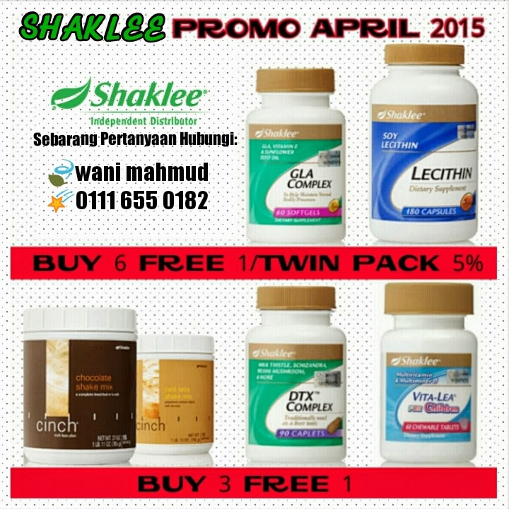 Promosi Vitamin Shaklee : APRIL 2015