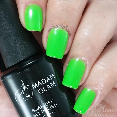 Madam Glam Gel Polish Neon Lime Green