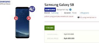 Harga Samsung Galaxy S8 di Indonesia: Rp 8.699.000 di Erafone (update Mei 2018)