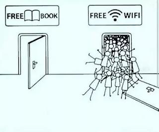 free wifi dan free book