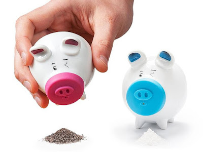 Pink and Blue Pigs Shakers