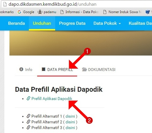 Link download preffil dapodik