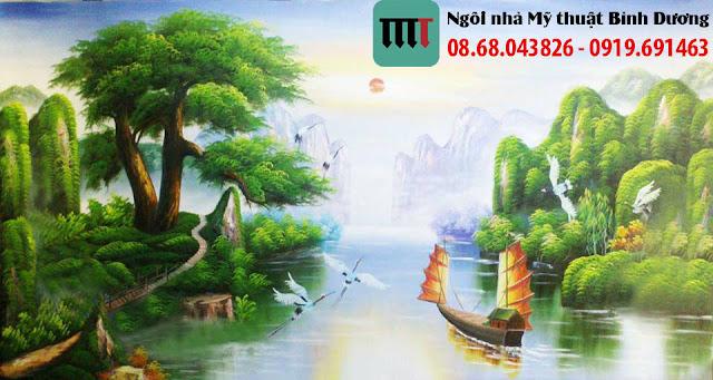 Tranh tuong phong canh re dep tai Binh Duong